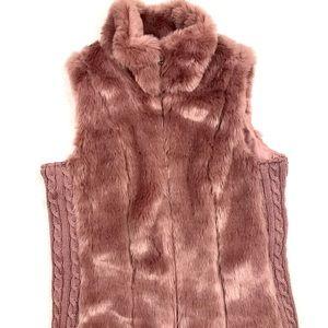 Cavalini Faux Fur Rose Jacket